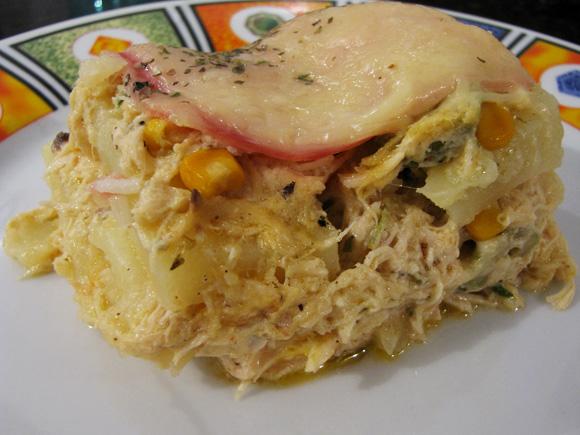 foto da torta de batatas de forno