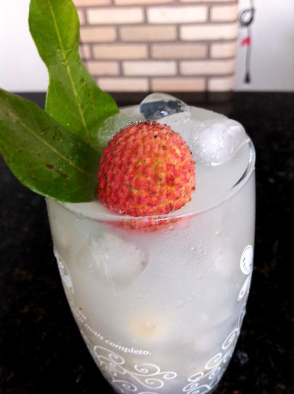 foto de um drink de lichia com vodka