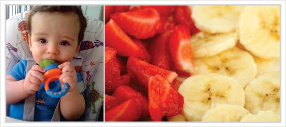 Sugest o de caf da manh para beb s cozinha travessa for Comedor de frutas para bebe