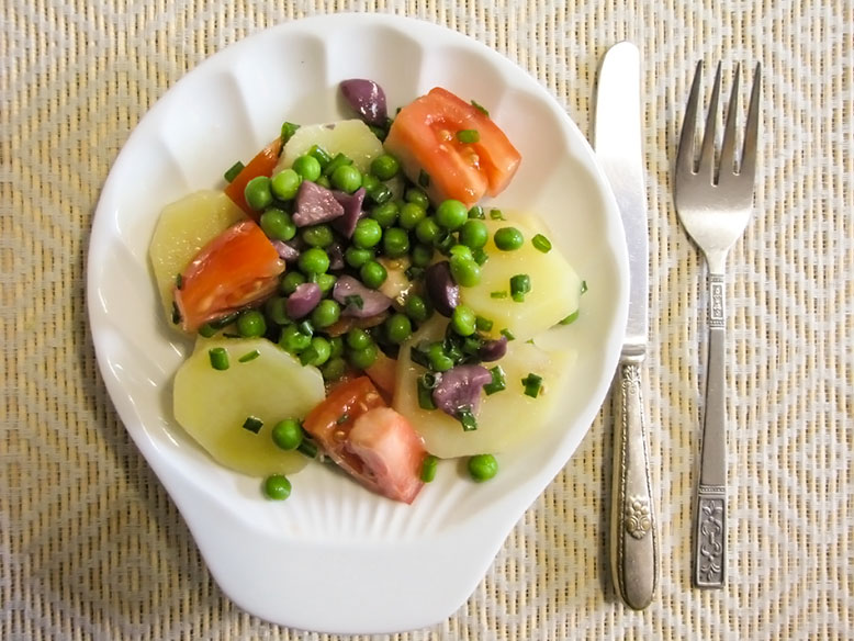 Salada com batatas