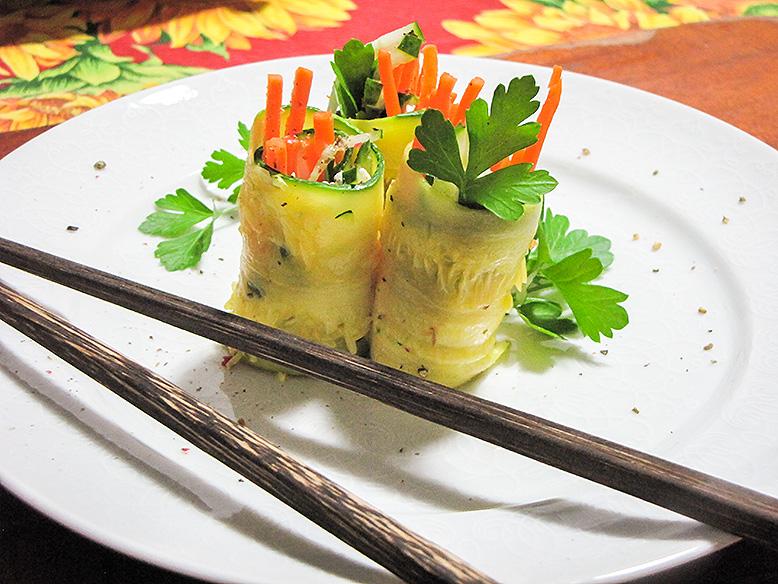 Sushi de abobrinha