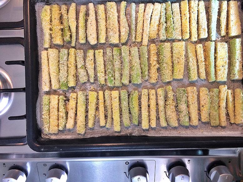 Receita de stick de abobrinha empanada no forno