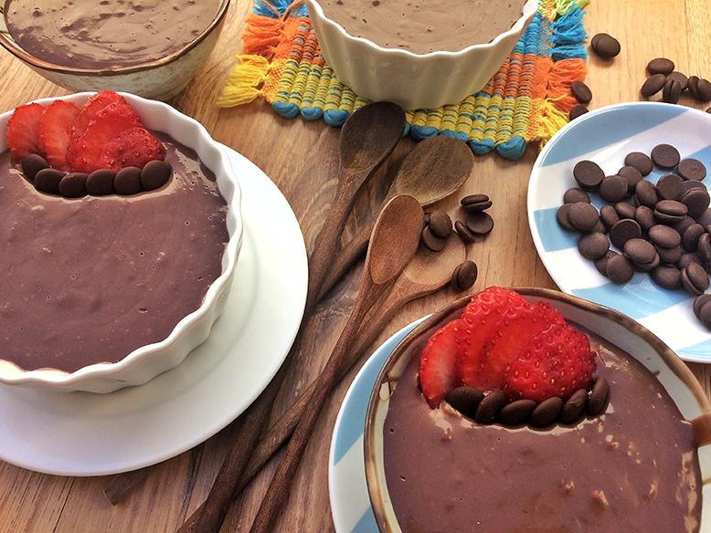 Receita de mousse de chocolate com dois ingredientes