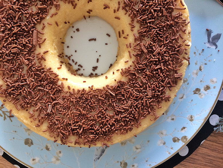 Brigadeirão de chocolate branco
