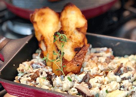 Receita de ovos com cogumelos frescos