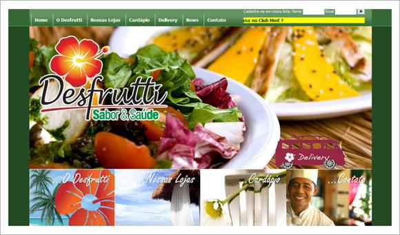 imagem do site da rede de restaurantes desfrutti