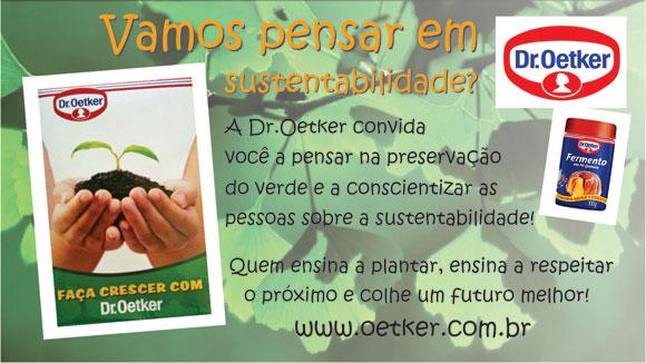 imagem da campanha Faça crescer com Dr.Oetker