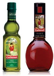 Azeite extra virgem e vinagre de vinho tinto Carbonell