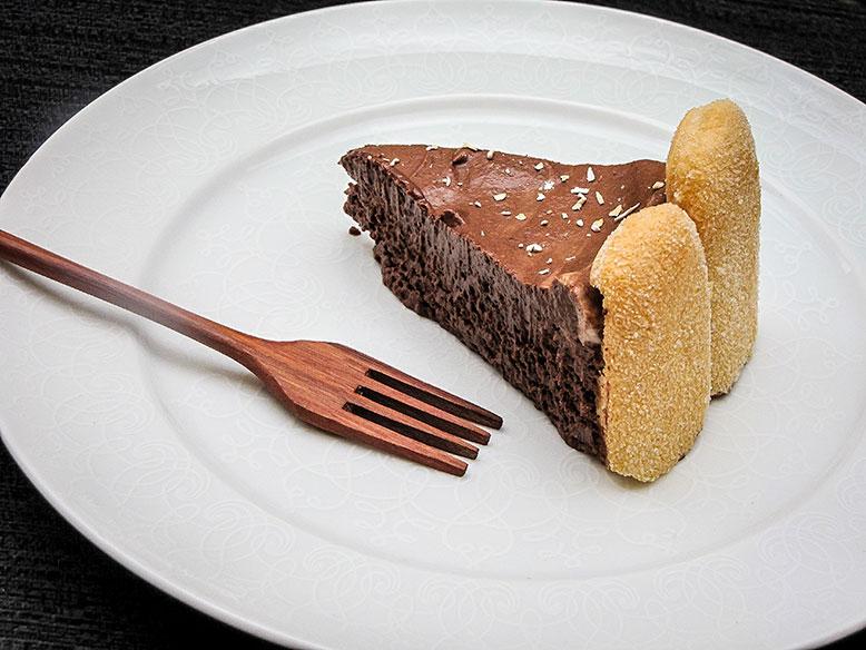 Torta mousse de chocolate com café