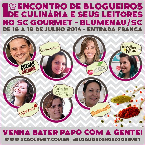 Blogueiros no SC Gourmet