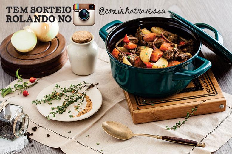 Sorteio no perfil do Instagram do Cozinha Travessa