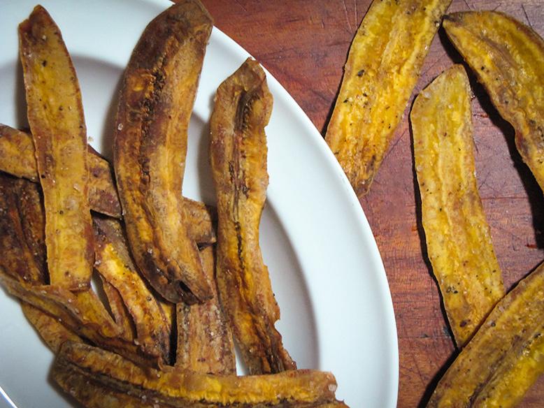 Chips de banana da terra