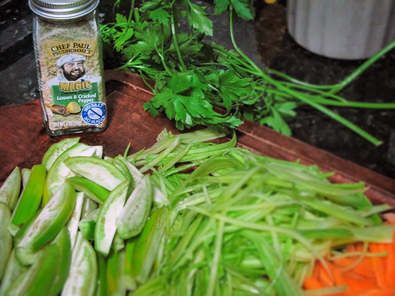 Legumes salteados com Temperos Magic