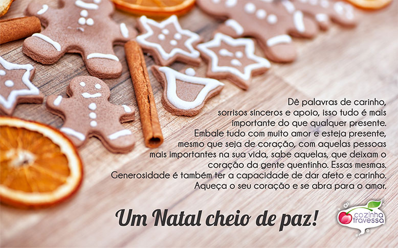 Feliz Natal - Cozinha Travessa