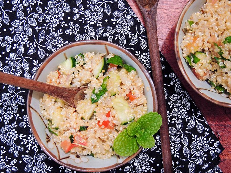 Receita funcional tabule de quinoa