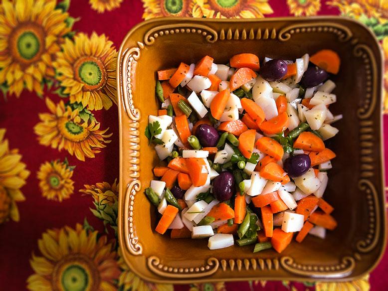 Receita de salada de legumes cozidos