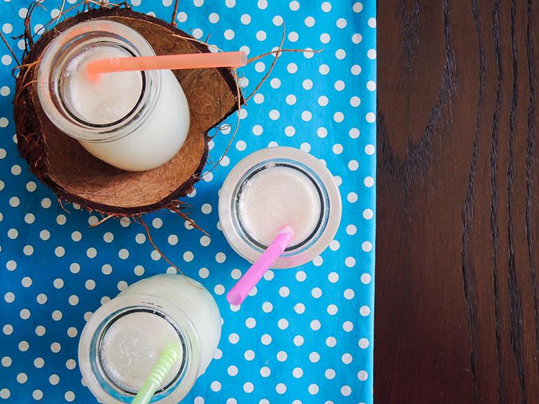 Receita funcional de suco de limão com leite de coco