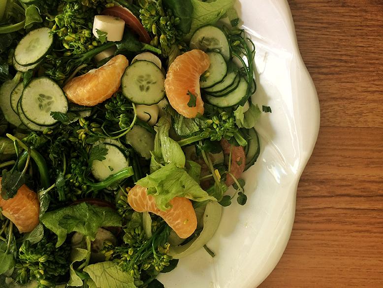 Receita de salada mix com mixirica