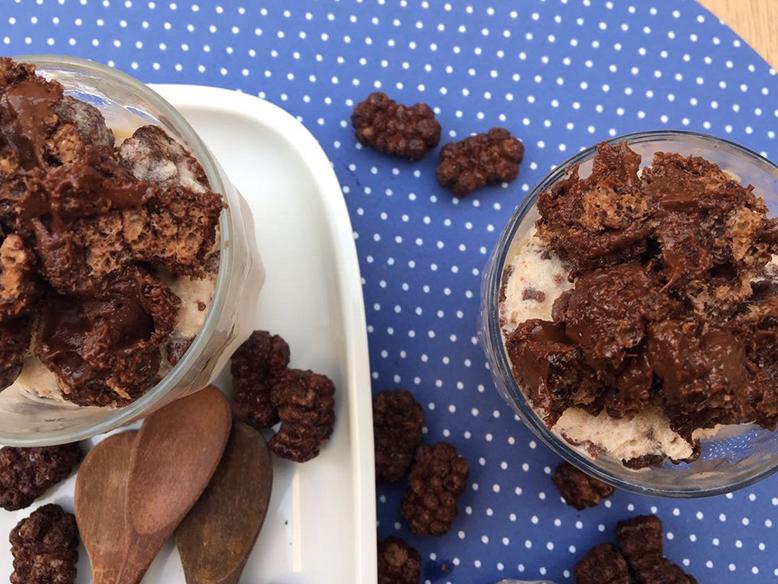 Receita de sorvete crocante com nutella