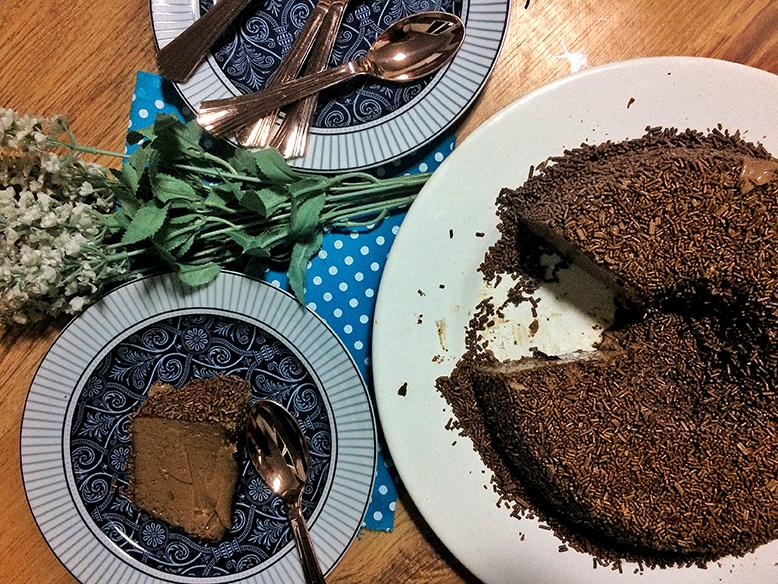Brigadeirão de chocolate preto