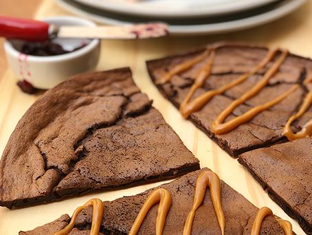 Receita de brownie fit de frigideira e e-book de receitas funcionais para emagrecer certo