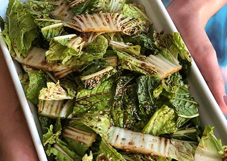 Receita de salada acelga com hondashi
